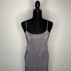 BCBGeneration Gray Silver  Gown with Slit Size S